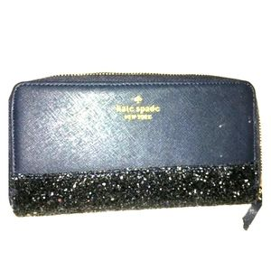 Brand new Kate Spade large sparkle wallet.